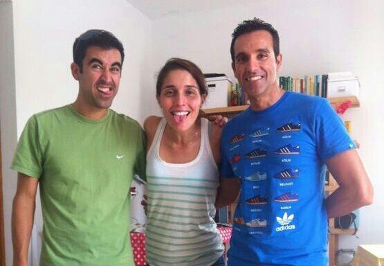 con Luisa y José Lobillo